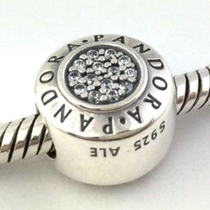 PANDORA Signature Sterling Silver with CZ Charm